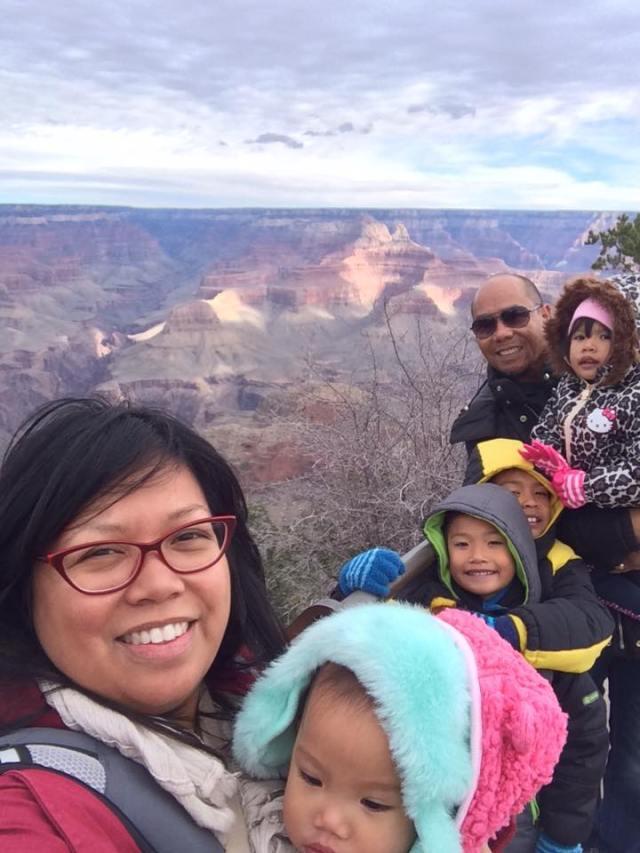 grandcanyon family selfie